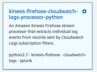 AWS Firehose Lambda template for vpc-flow logs to ELK